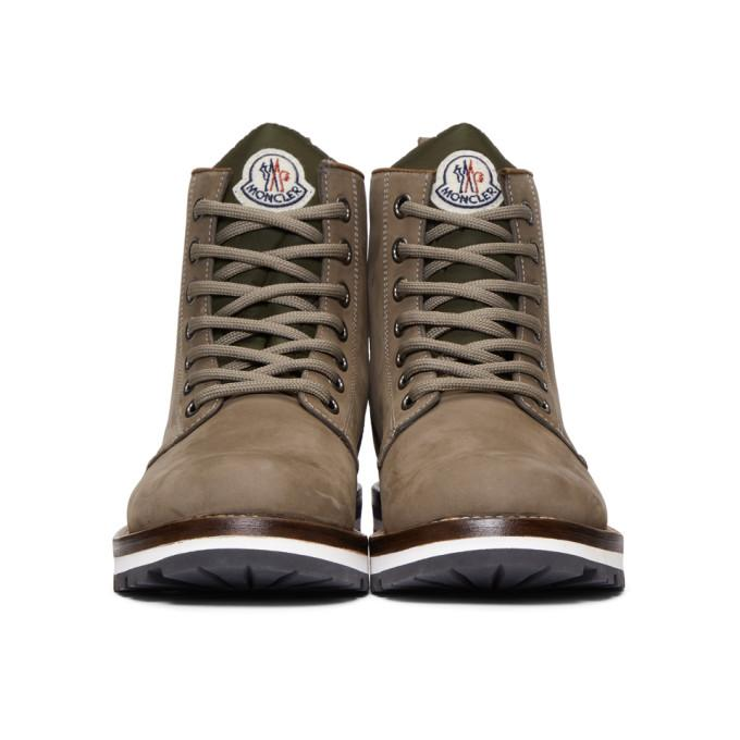 New Boots And Brown Lined Shell Suede Vancouver Shearling Moncler WDbIE2YeH9