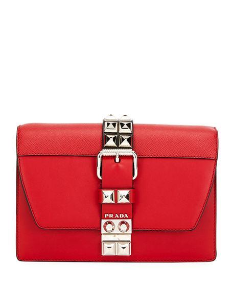 04232242e243 Prada Small Elektra Crossbody Bag In Red/Black | ModeSens