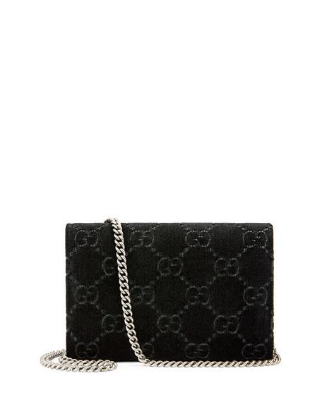 Gucci Dionysus Velvet Gg Supreme Wallet On Chain 722623ee43f43