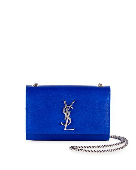 87ab43ce503 Saint Laurent Kate Monogram Ysl Small Chain Shoulder Bag In Bright Blue
