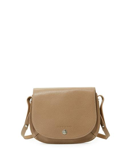 Small Le Foulonne Leather Crossbody Bag - Beige In Greige
