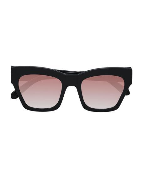 8fcfa2afd8 Karen Walker Treasure 52Mm Cat Eye Sunglasses - Shiny Black  Brown ...