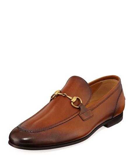 Gucci Loafers Jordaan  Calfskin Horsebit-Detail Logo Brown