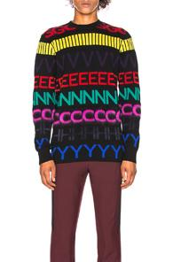Givenchy Logo-Intarsia Wool Sweater In Black
