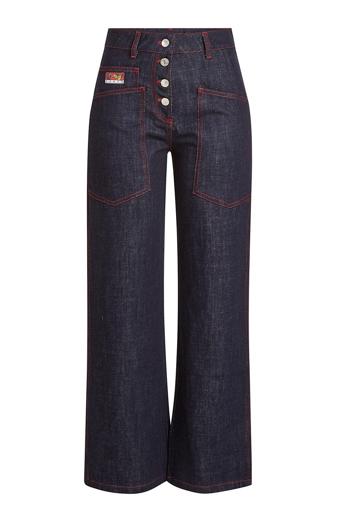 6425a21b Kenzo Wide-Leg Jeans In Blue | ModeSens