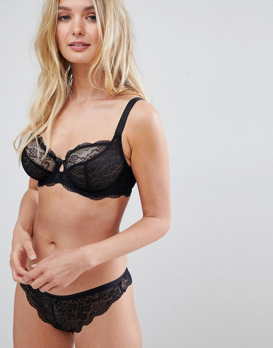 1403778f34 Freya Fancies Plunge Lace Fuller Bust Bra - Black | ModeSens