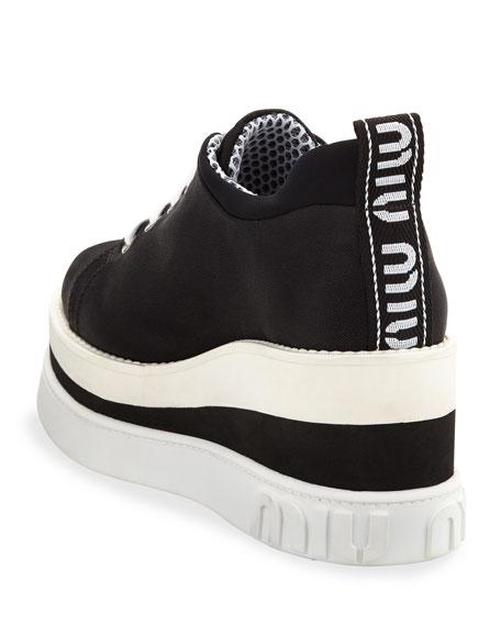 07a3e2bdb72 Miu Miu Nylon-Tech Platform Sneakers In Black