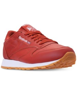 4778bf69ddf Reebok Men s Cl Leather Mu Casual Sneakers From Finish Line In Fg-Burnt  Amber