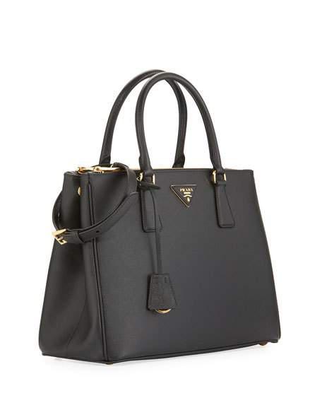 40225ade7280 Prada Galleria Saffiano Small Leather Shoulder Bag In Black