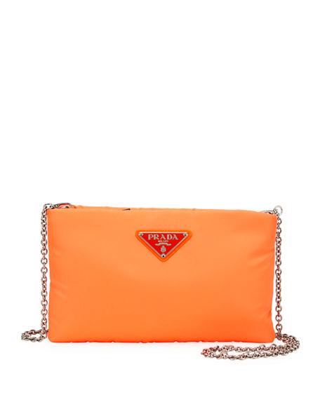 346c9e4d43cf Prada Fluo Clutch In Orange