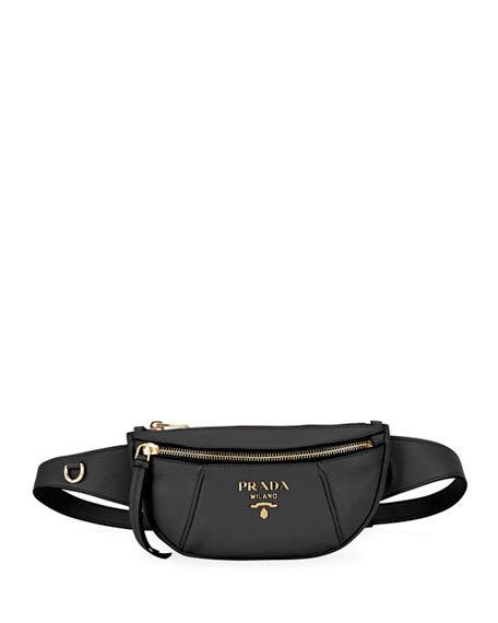 2cdbb7d7c981 Prada Small Daino Leather Belt Bag In Black | ModeSens