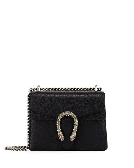 4a09f1e9a Gucci Dionysus Super Mini Suede And Leather Shoulder Bag In 8176 Nero