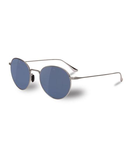 727a5a853264 Vuarnet Swing Small Round Titanium Sunglasses In Silver