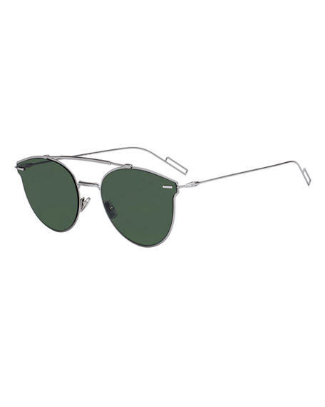cc96b1550dae2 Dior Pressure Metal Pilot Sunglasses In Silver   Green