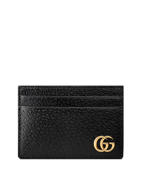 8ed093677 Gucci Men's Leather Credit Card Case With Money Clip In Black Leather