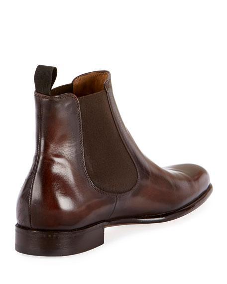 Berluti Men's Scritto Leather Chelsea Boots In Brown