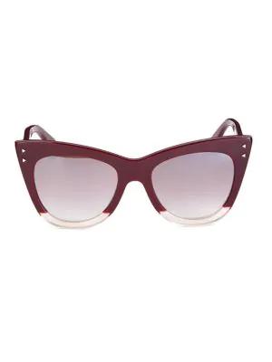 71ecb011d3e Fendi 52Mm Two-Tone Cat Eye Sunglasses In Opal  Burgundy