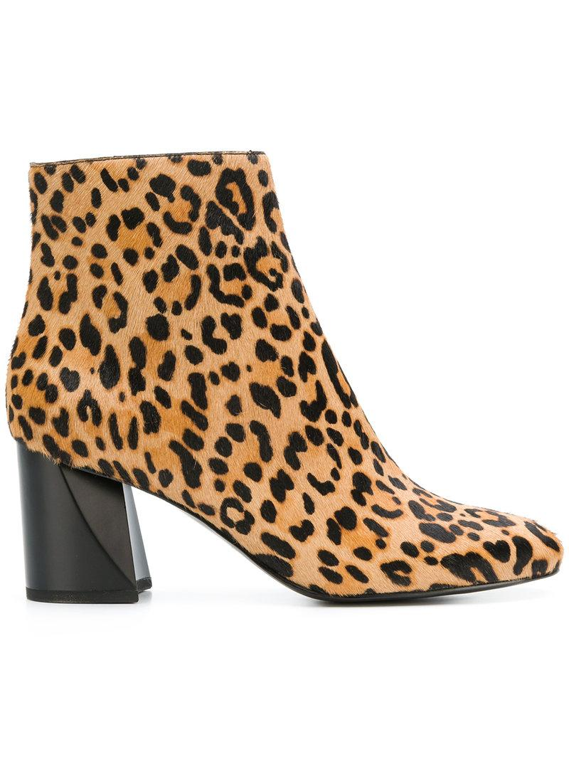 0218928ee589 Kendall + Kylie Kendall+Kylie Hadlee Leopard Print Ankle Boots - Brown