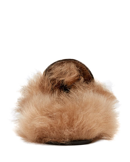 Gucci Princetown Python And Fur Mule