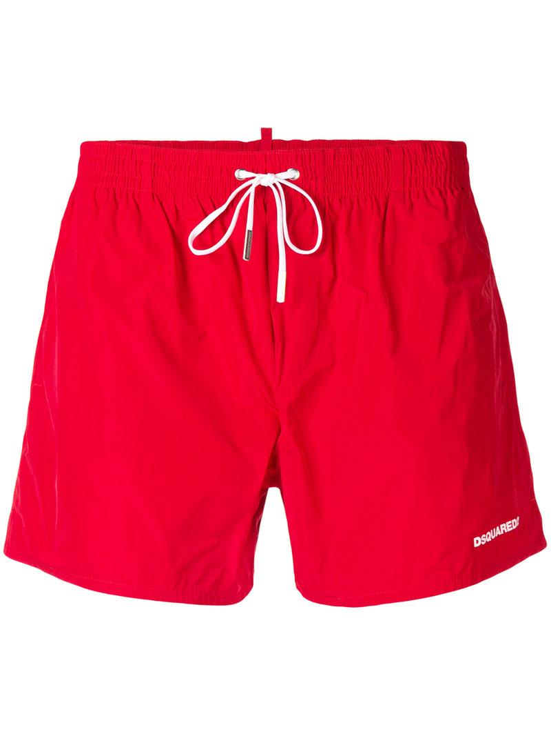 928ee001b3 Dsquared2 Icon Swim Shorts In Red | ModeSens