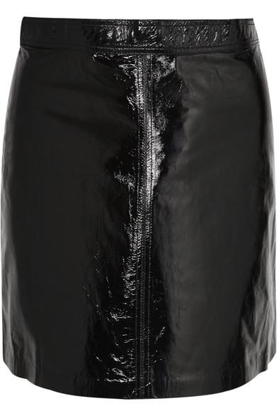 53a9b3fccd39a6 Vanessa Bruno Juna Patent-Leather Mini Skirt In Black | ModeSens