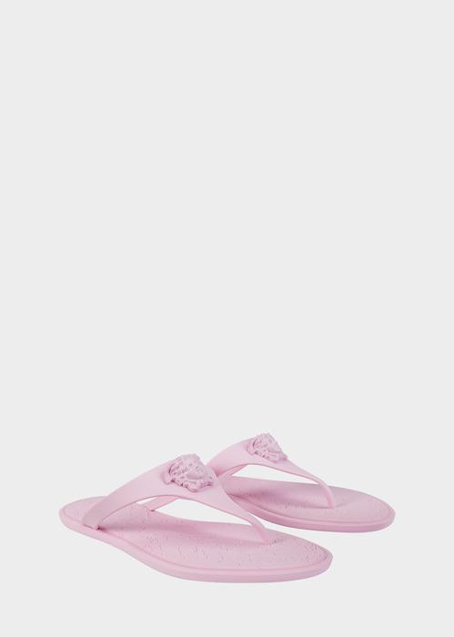 3bd2d37d372 Versace Medusa Palazzo Thong Sandals In Pink