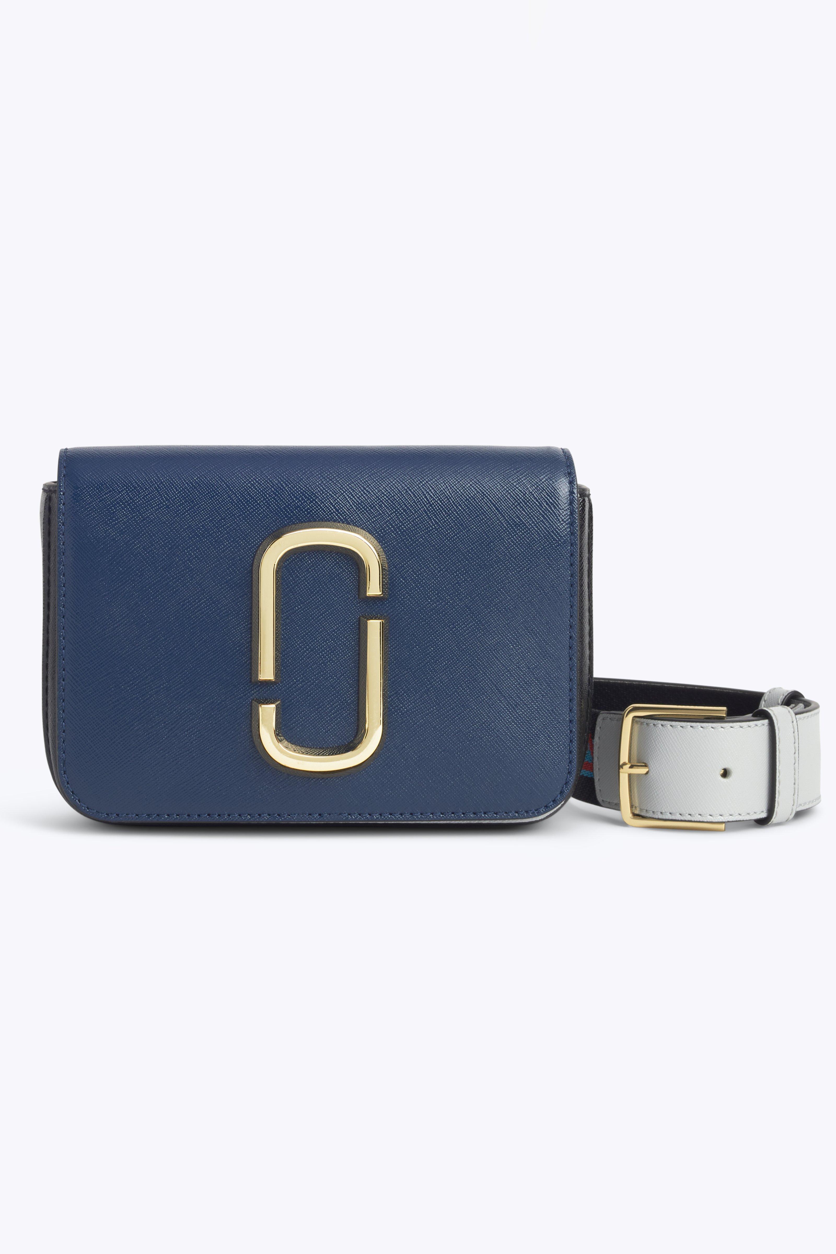 c9e3abea4a4fb Marc Jacobs Hip Shot Convertible Leather Belt Bag - Blue In Blue Sea Multi