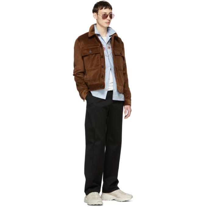 f46c90d5ab75 Msgm Corduroy Velvet Jacket In 30 Brown | ModeSens