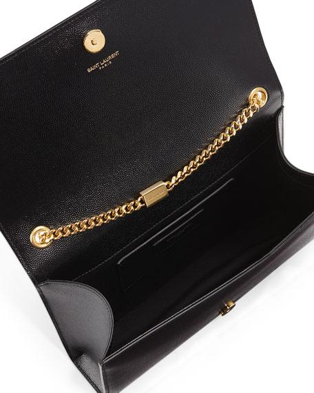 506ca8a21ba2 Saint Laurent Medium Kate Monogram Leather Chain Shoulder Bag In Black