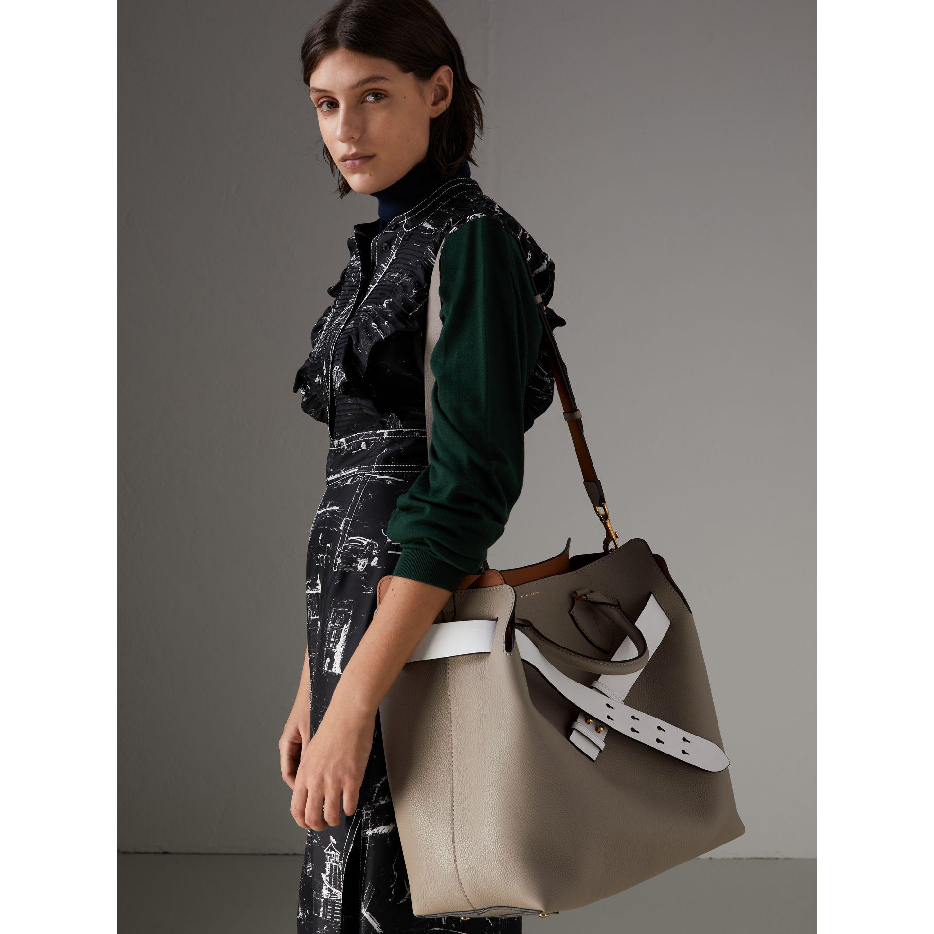 537a949b8f80 Burberry The Large Leather Belt Bag In Mineral Grey