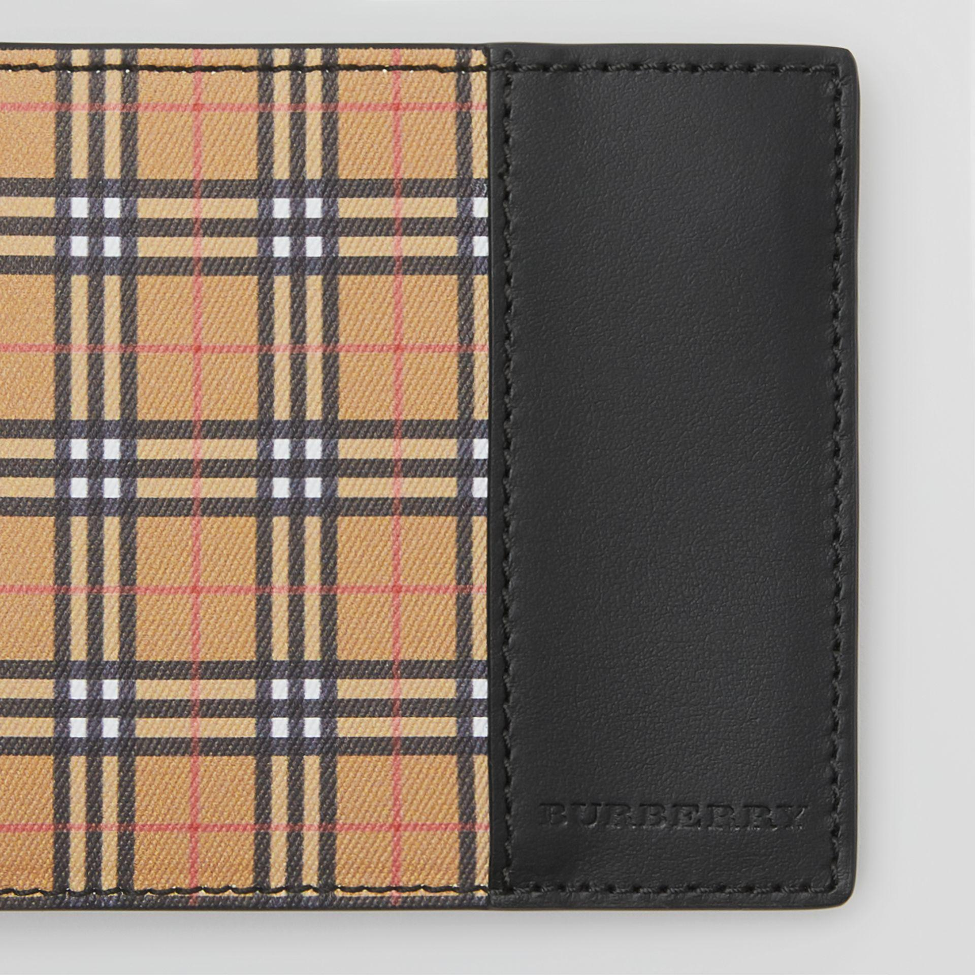 63c4cc93967 Burberry Small Scale Check International Bifold Wallet In Antique Yel