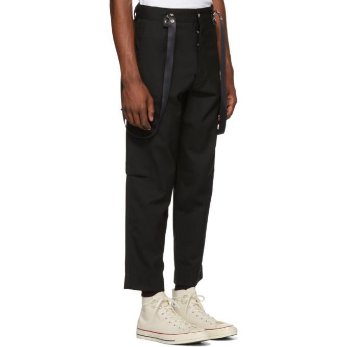 c82b2a3e605b0 Enfants Riches Deprimes Black Cargo Suspenders Trousers In Charcoal ...
