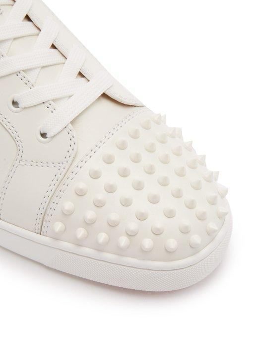 7a84992743e Christian Louboutin - Louis Spike Embellished High Top Trainers - Mens -  White