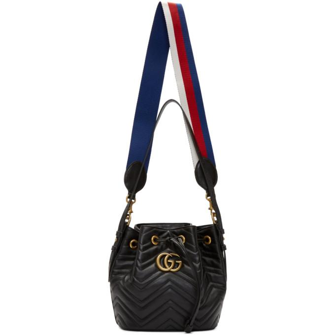 62a7aceaf Gucci Gg Marmont 2.0 Matelasse Leather Bucket Bag - None In Black ...