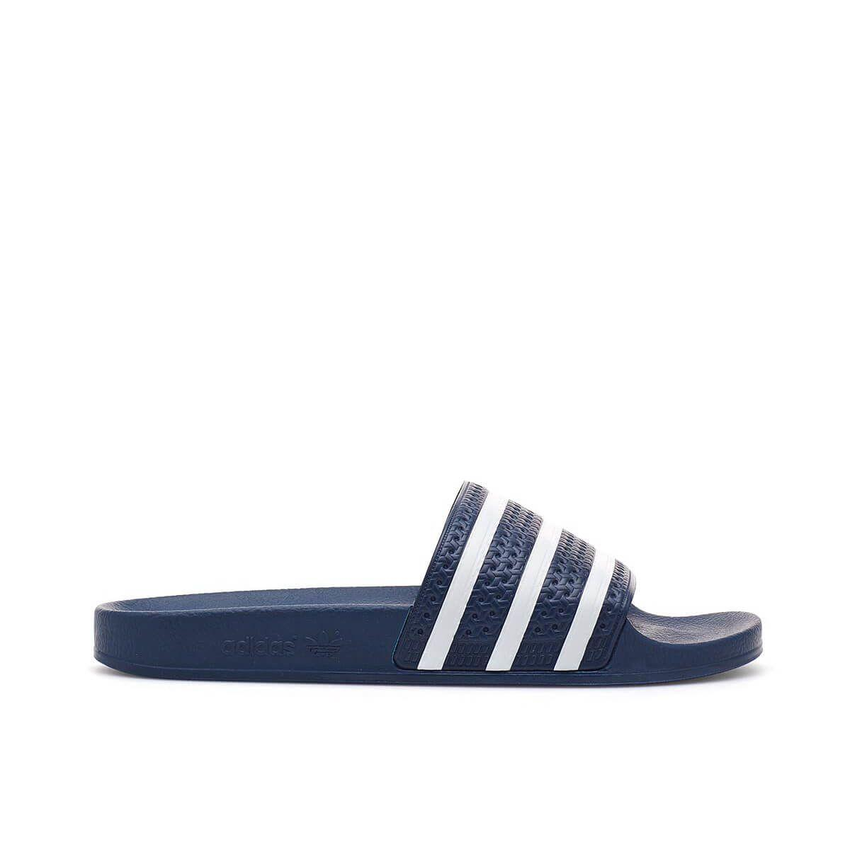 0192631a0 Adidas Originals Adilette Slider Sandals In Navy And White - Navy In Blue