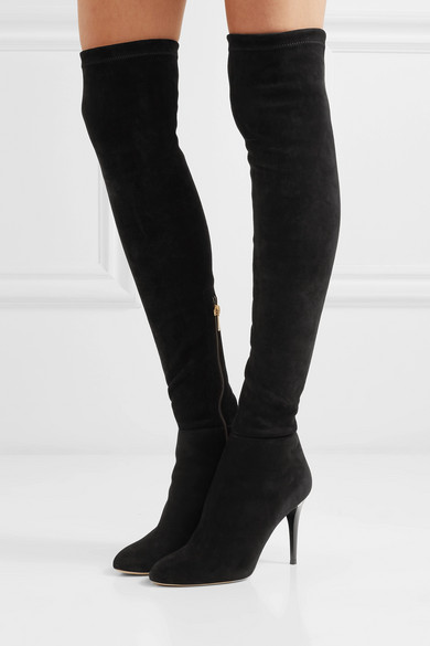 937c47753741 Jimmy Choo Toni 90 Stretch-Suede Over-The-Knee Boots In Black