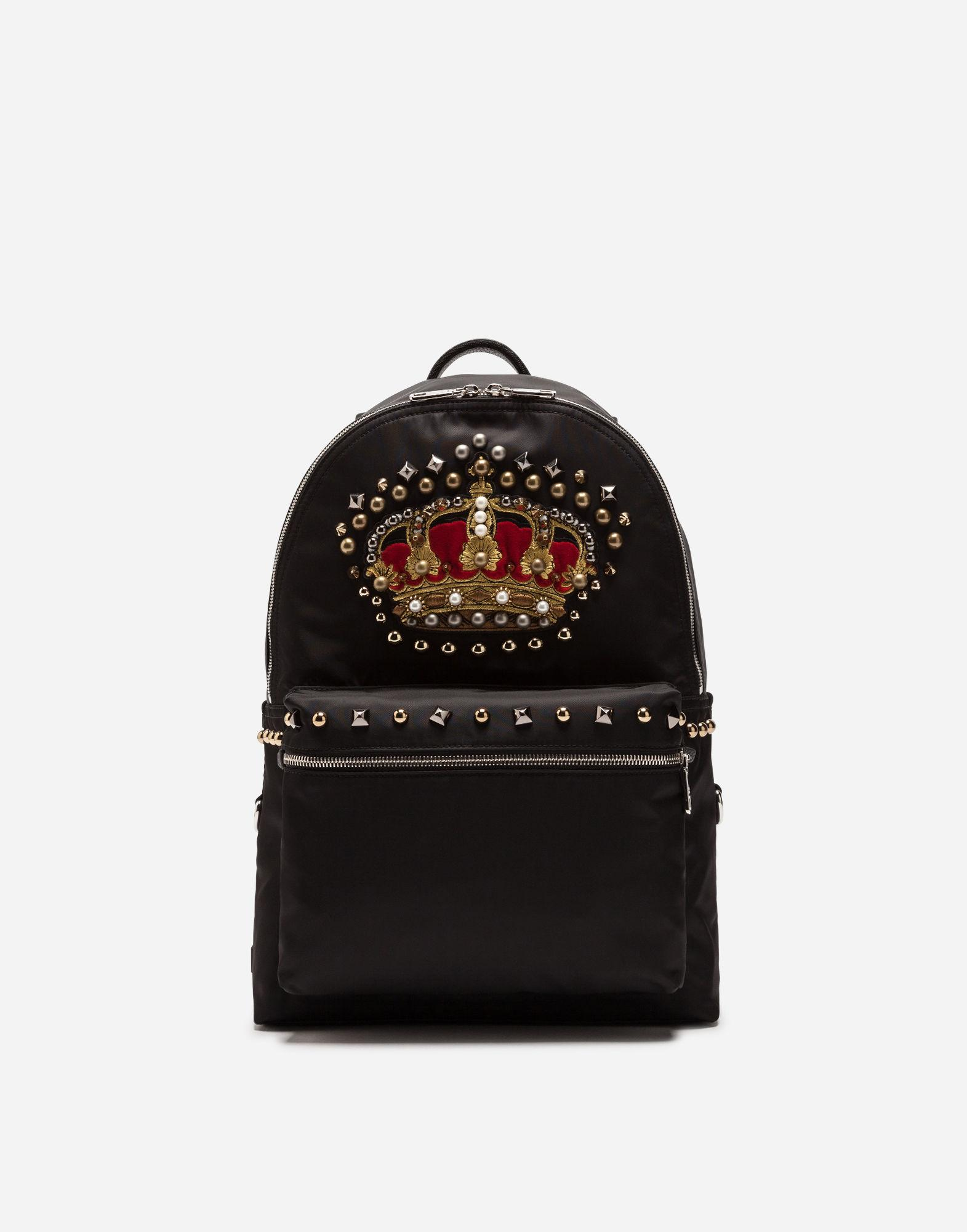 2f4a8210be Dolce   Gabbana Nylon Vulcano Backpack With Crown Patch In Multi ...