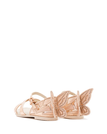 9c6027ce02b Chiara Metallic Butterfly Sandal, Toddler/Youth Sizes 5T-3Y in Rose Gold