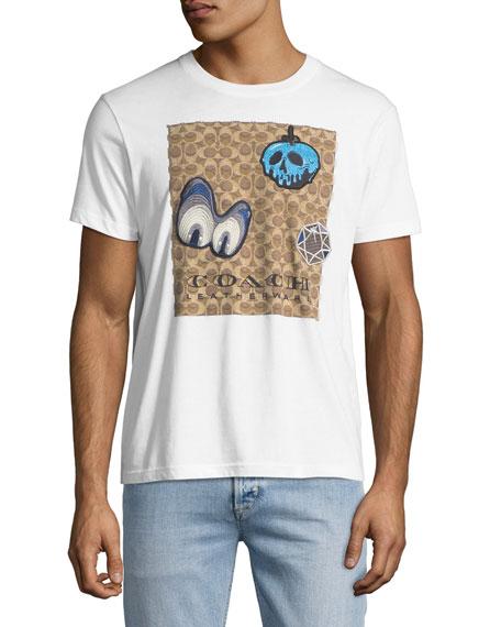 7e0e73e080e3f Coach Disney X Charakteristisches T-Shirt Mit AufnÄHern In White ...