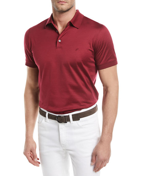 f3f87e23a5c Brioni Cotton Jersey Polo Shirt In Brown | ModeSens