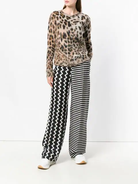 STELLA MCCARTNEY WIDE-LEG PRINTED SILK TROUSERS