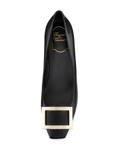 Roger Vivier Belle Vivier Trompette Pumps In Patent Leather In Black