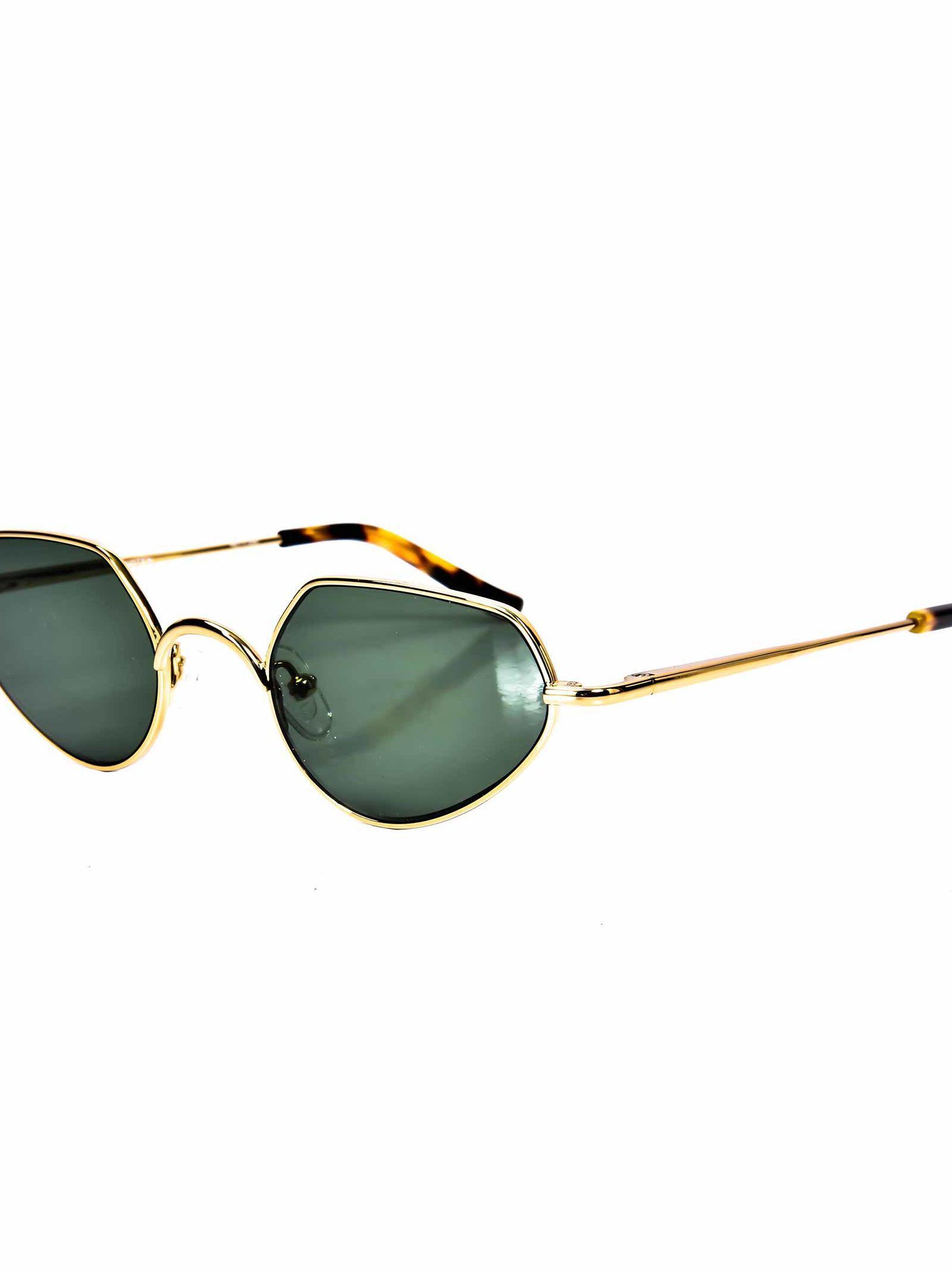 128a6fe8a416 Linda Farrow Dries Van Noten Sunglasses In Cyellow Gold
