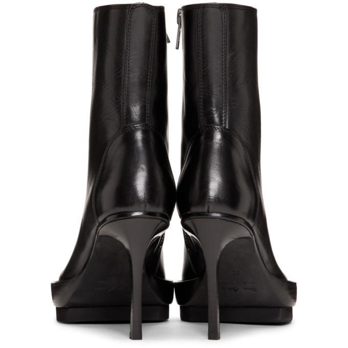 d47cc432785 Platform Boots With Stiletto Heel in Black