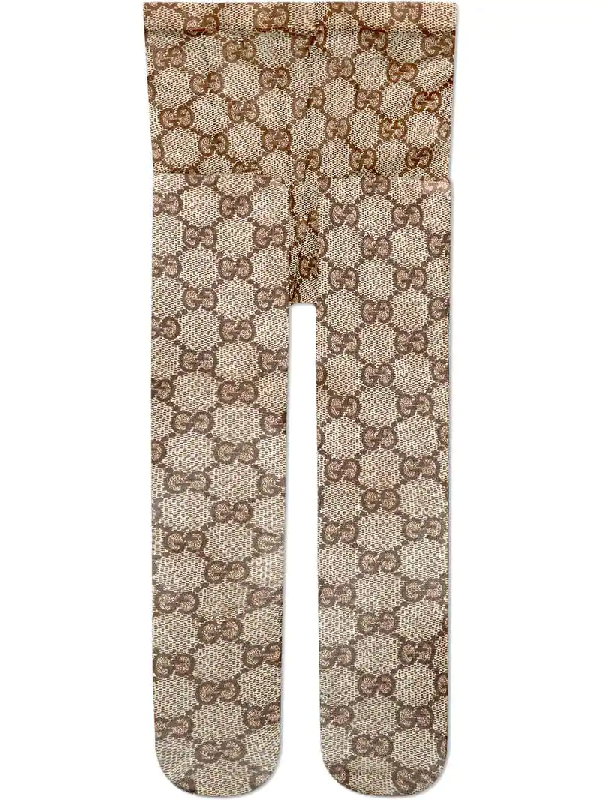 637f3bd1683 Gucci Gg Pattern Tights In Brown
