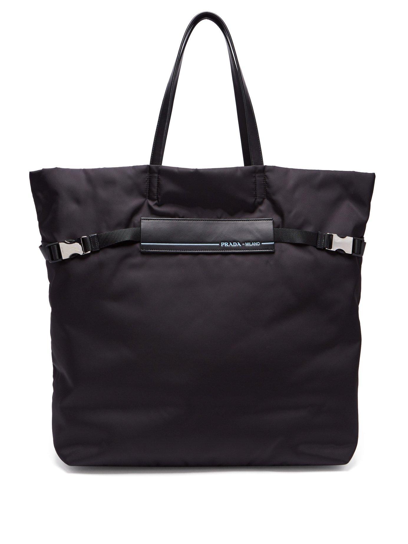 035959d9e198 Prada - Logo Patch Nylon Tote Bag - Womens - Black | ModeSens