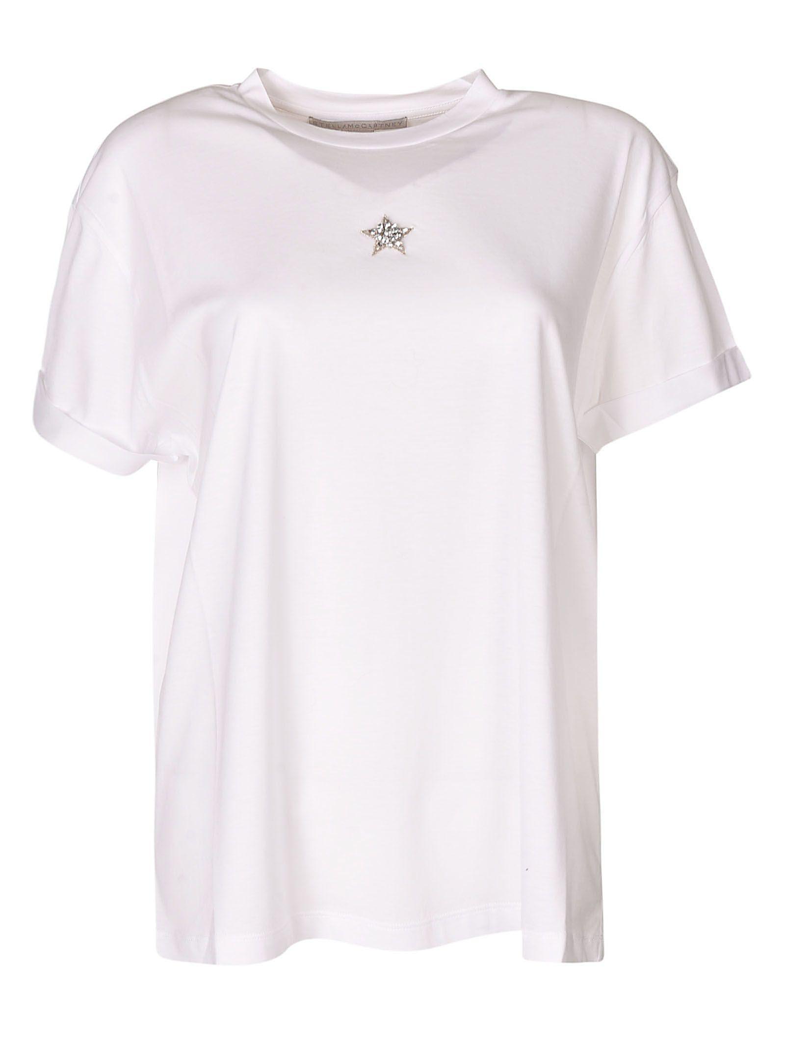 2606f4f2b45ee Stella Mccartney Embellished Star T-Shirt In 9000 Pure W