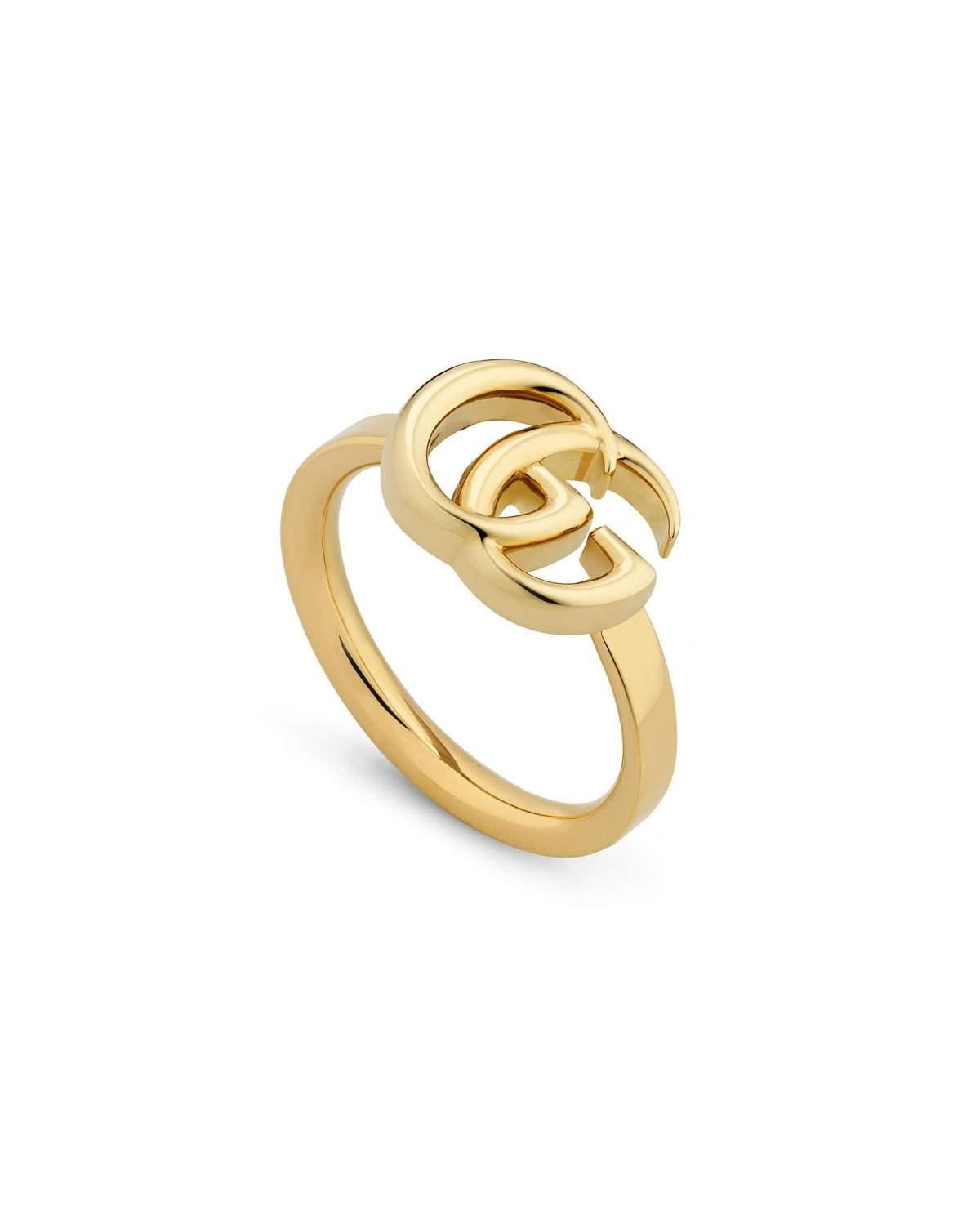33a1f659f41 Gucci 18K Yellow Gold 13Mm Gg Running Ring