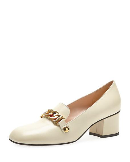 8384bfa266c Gucci Sylvie Leather 55Mm Loafer In White
