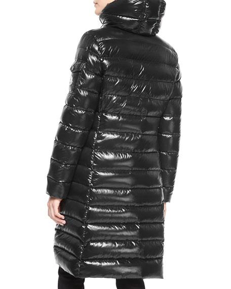 523aa4b4e Moka Shiny Fitted Puffer Coat With Hood in 999 Black